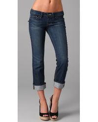 William Rast - Blue Belle Cuffed Capri Jeans - Lyst