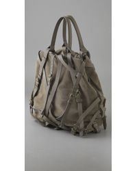Alexander Wang - Gray Kirsten Suede and Calf Tote - Lyst