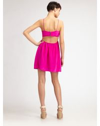 Boulee | Pink Tiffany Cutout Cami Dress | Lyst