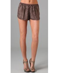 Dallin Chase | Brown Sebastian Sequined Shorts | Lyst