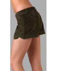 Dallin Chase | Green Think Suede Shorts | Lyst