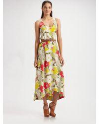 Joie | Black Aileen Floral Silk Dress | Lyst