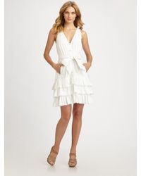 Leifsdottir | White Ruffled Poplin Dress | Lyst