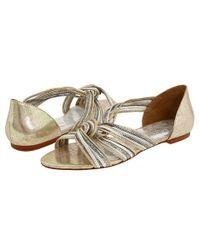 Loeffler Randall | Metallic Lila Flat Sandals | Lyst