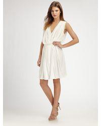 Obakki | White Alameda Draped Wrap-front Dress | Lyst