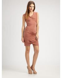 Obakki | Pink Morgan Gathered Dress | Lyst