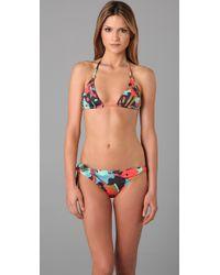 Tibi - Multicolor Pressed Flowers Print Bikini Top - Lyst