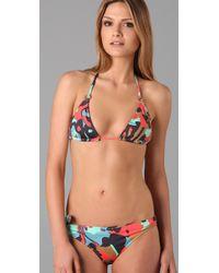 Tibi | Multicolor Pressed Flowers Print Bikini Top | Lyst