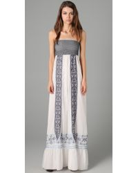Alice By Temperley | White Aline Embroidered Cotton Maxi Dress | Lyst
