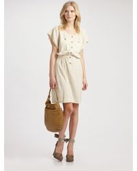 Marc By Marc Jacobs - Natural Slubby Gauze Jersey Dress - Lyst