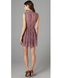 Opening Ceremony | Purple High Collar Pleated Dress | Lyst