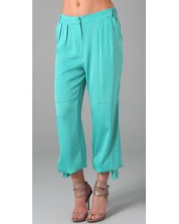 Rachel Roy - Blue Cargo Pants - Lyst