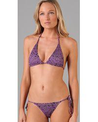 Tibi | Purple Malawi String Bikini Top | Lyst