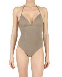 Playa Di Roberta Corti - Brown Padded Bra Bathing Suit - Lyst