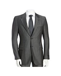 Prada - Gray Grey Wool-mohair 2-button Suit with Flat Front Pants for Men - Lyst