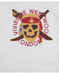Vivienne Westwood - White Pirate Skull Top for Men - Lyst