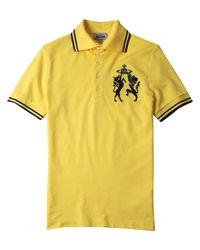 Vivienne Westwood | Yellow Lion Orb Polo Shirt for Men | Lyst