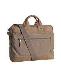 Andrew Marc | Natural Sand Canvas Gavin Briefcase for Men | Lyst