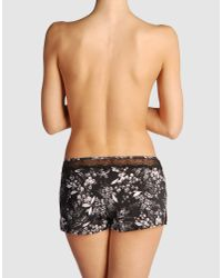Calvin Klein - Black Hotpants - Lyst