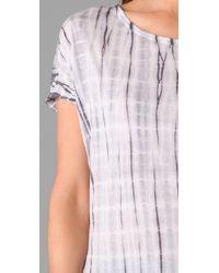 C&C California - White Tie Dye Tunic - Lyst