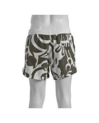Dolce & Gabbana - Military Green Printed Drawstring Swim Trunks for Men - Lyst