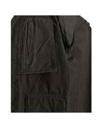 Edun - Washed Black Twill Military Jacket for Men - Lyst