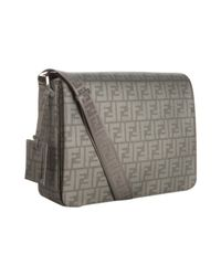 Fendi | Gray Asphalt Zucca Spalmati Messenger Bag for Men | Lyst