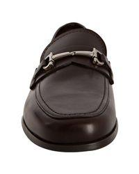 Ferragamo | Brown Hickory Leather Danubio Gancio Loafers for Men | Lyst