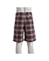 Fred Perry - Purple Burgundy Plaid Cotton Madras Shorts for Men - Lyst