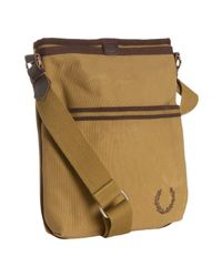 Fred Perry | Metallic Twill Canvas Map Shoulder Bag for Men | Lyst