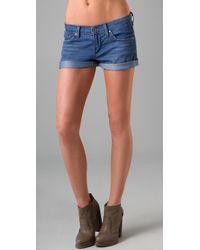 James Jeans | Blue Shorty Boyfriend Shorts | Lyst