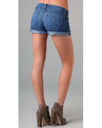 James Jeans - Blue Shorty Boyfriend Shorts - Lyst