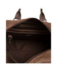 John Varvatos   Brown Leather Duffel Bag for Men   Lyst