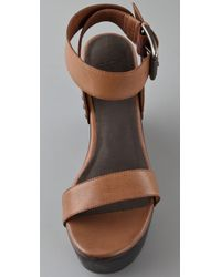Joie | Brown Higher and Higher Wedge Sandals | Lyst