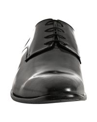 Kenneth Cole - Gray Dark Grey Leather Mister Right Derbies for Men - Lyst