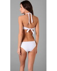 Lisa Curran - White French Picot Retro Bikini Top - Lyst