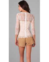 Lover | White The Muse Lace Blouse | Lyst