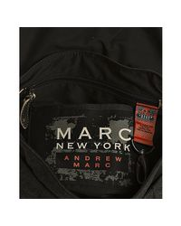 Marc New York | Black Leather and Denim Messenger Bag for Men | Lyst