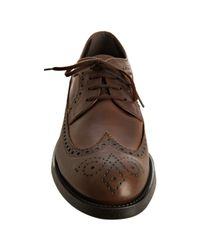 Tod's | Brown Leather Derby Esquire Giovane Wingtip Oxfords for Men | Lyst