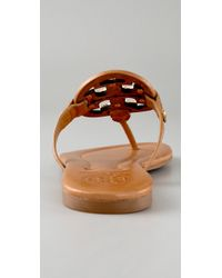 Tory Burch | Brown Miller Flat Thong Sandal, Tan/bronze | Lyst