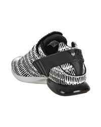 Y-3 - Adidas Black and White Printed Light Runner Sneakers for Men - Lyst