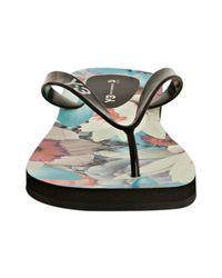 Y-3 | Adidas Black Yohji-flip Thong Sandals for Men | Lyst