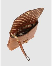 Alexander McQueen | Brown Demanta Faithful Leather Clutch | Lyst