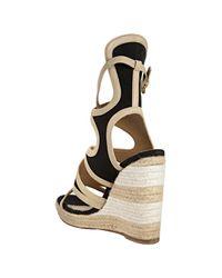 Balenciaga - Black Espadrille Sandals - Lyst