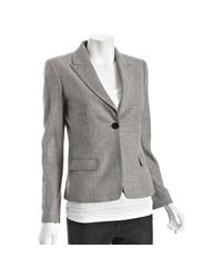 Elie Tahari | Black and White Check Ava Jacket | Lyst