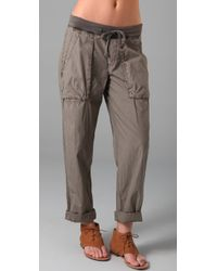 James Perse | Gray Clean Cargo Pants | Lyst