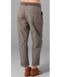 James Perse - Gray Clean Cargo Pants - Lyst