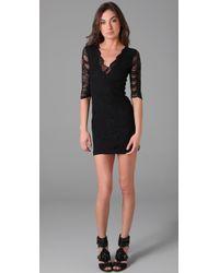 Nightcap | Black Deep V Victorian Lace Dress | Lyst