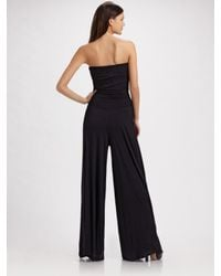Rachel Pally | Black Strapless Knit Jumpsuit | Lyst