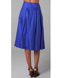Rachel Roy - Blue Swing Skirt - Lyst